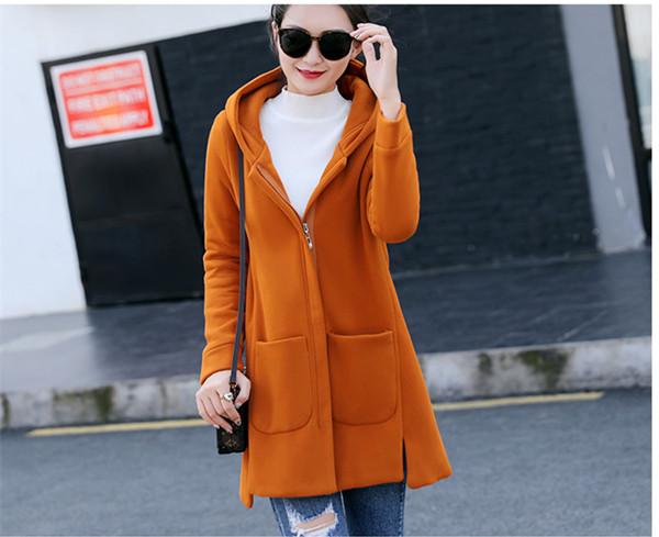長い秋と冬の新しい段落プラスベルベット厚いルーズセーターの女性のコート