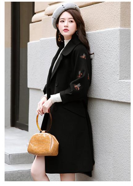 プラスコットンウールジャケット女性の長い秋と冬のモデル、厚手の新しいプラスカシミアウールコート