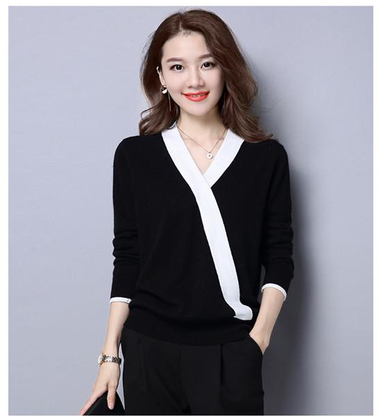 セータースリムは、薄くて気質の野生の快適性春のボトミングシャツセーターヒットカラーシャツ新しい女性
