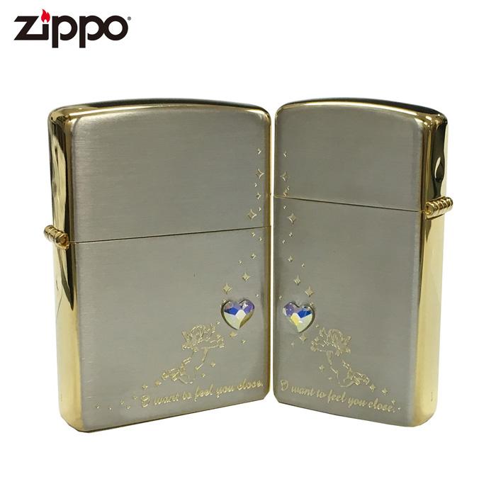 ZIPPO AHP-SG エンジェルハートペア スワロフスキー ペア ジッポー ジッポライター ギフト プレゼント メンズ 喫煙具 タバコ 煙草 たばこ 天使