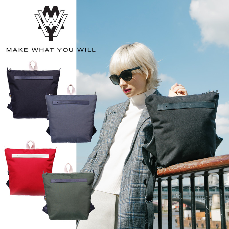 MAKE WHAT YOU WILL メイクワットユーウィル MWYW KINGS BACKPACK S バックパック リュック ユニセックス 男女兼用 軽量 撥水 速乾