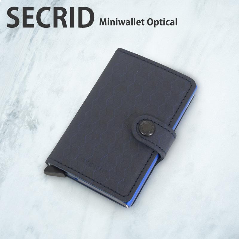 SECRID M/MINI OPTICAL miniwallet ミニウォレット シークリッド セクリッド スリムウォレット コンパクト 財布 カードケース カード入れ スキミング防止 メンズ レディース スライド式