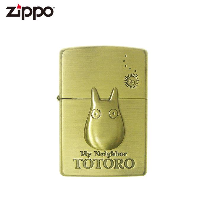 ジブリファン必見 となりのトトロに登場する小トトロが刻印されたジッポーライター 裏にはまっくろくろすけも描かれています Zippo となりのトトロ 配送員設置送料無料 小トトロ ギフト ジッポーライター プレゼント NZ-23 スタジオジブリコレクション お見舞い 喫煙具