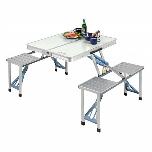 ラフォーレ DXアルミピクニックテーブル テーブル チェア セット