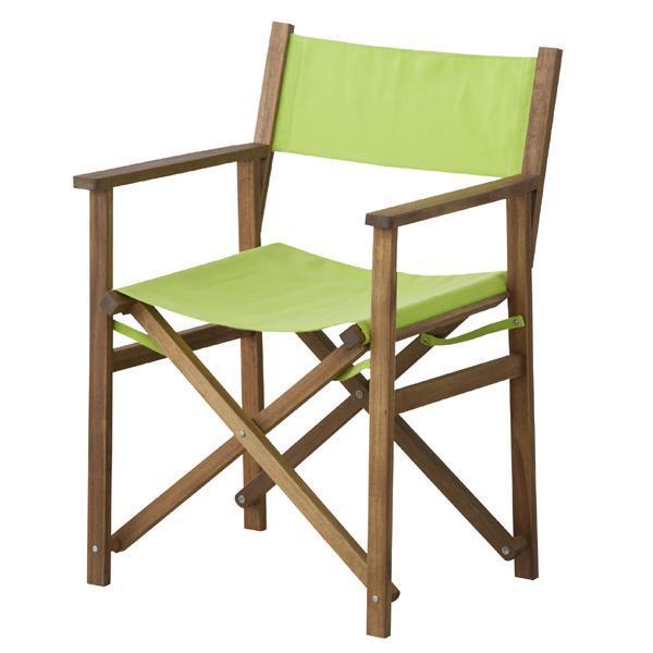 天然木  パティオ 座りごごちの良いディレクターチェア グリーン 東谷(Azumaya-kk) NX-601GR