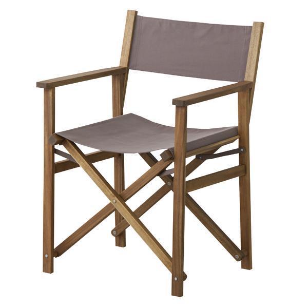 天然木  パティオ 座りごごちの良いディレクターチェア ブラウン 東谷(Azumaya-kk) NX-601BR