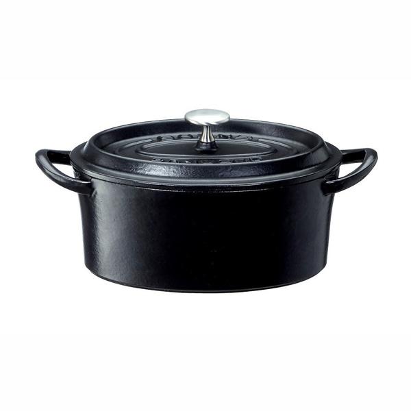 ボン・ボネール ココットオーバル17cm ブラック 6個セット