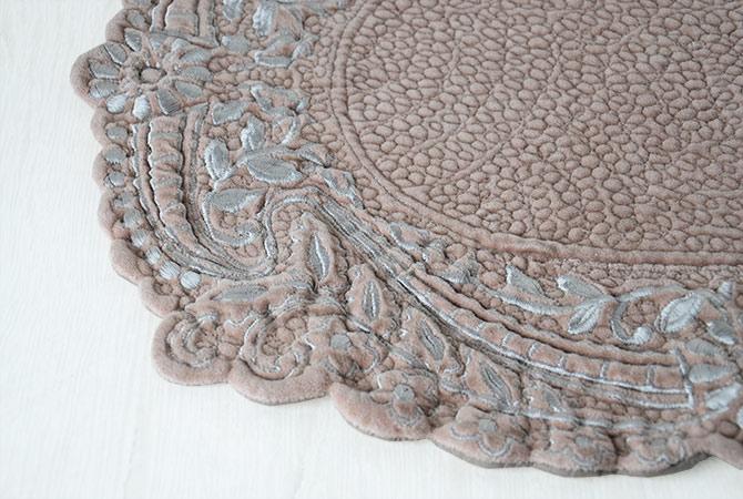 Queen Ann Rakuten Global Market Oval Placemat Velvet Hermine 4