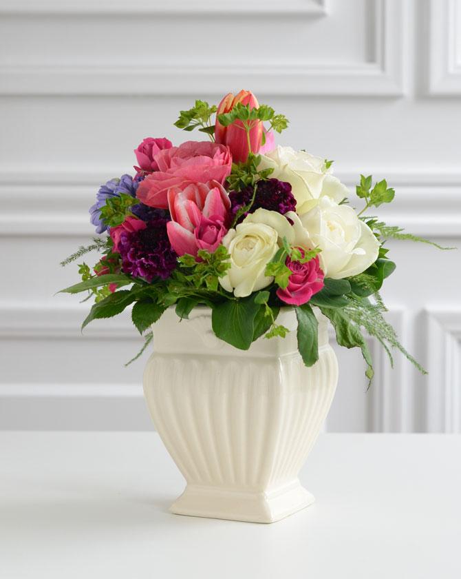 Queen Ann Rakuten Global Market Ceramic Vase Square Flower Based