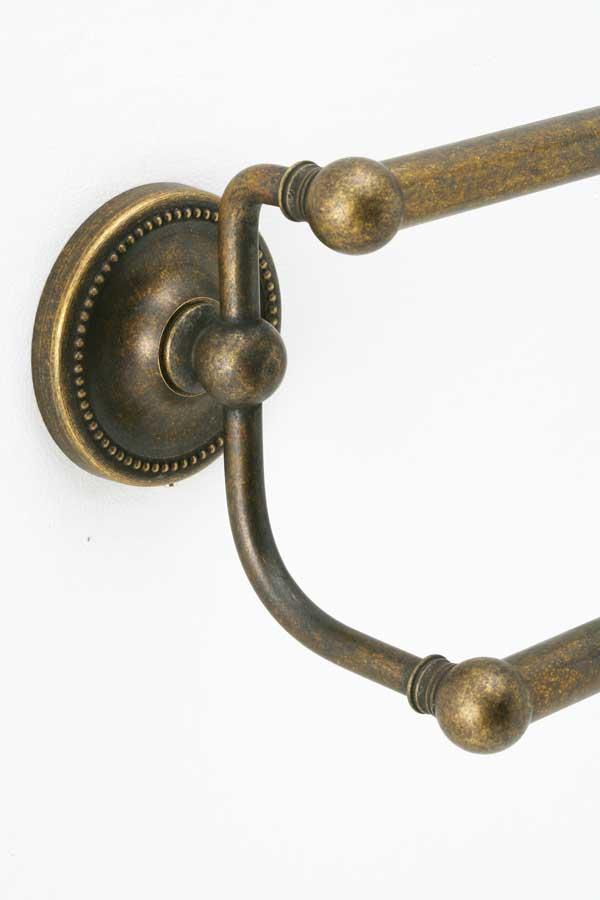タオルバー PB AN 真鍮古色仕上げ 68センチ ダブルバー 640763