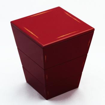 台形三段入子重箱 3色【日本製 漆器 和食器 和モダン おしゃれ おもてなし お重 重箱 3段 お正月 お花見 運動会】
