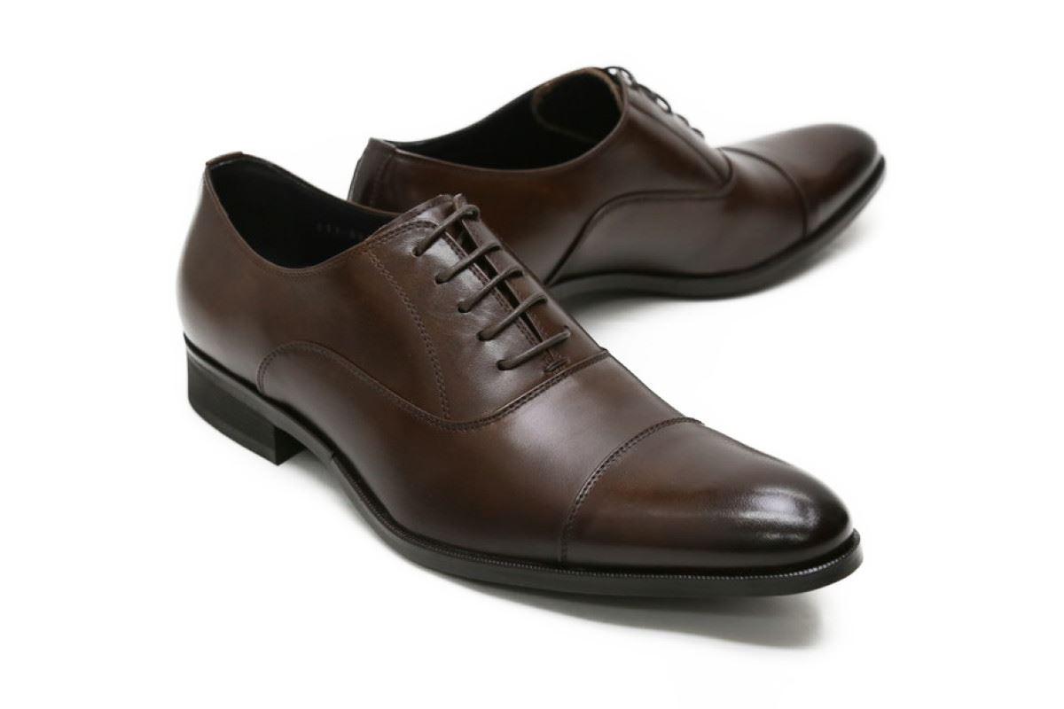 【送料無料】革靴 本革 ビジネスシューズ クインクラシコ QueenClassico メンズ ドレスシューズ 紳士靴 qc3100-adbr ダークブラウン(茶色) キャップトゥ日本製(国産)