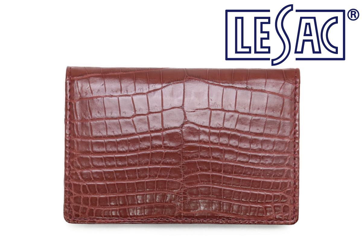 レザック / LE'SAC 革小物 8130rd クロコダイルレザーカードケース レッド 国産(日本製)