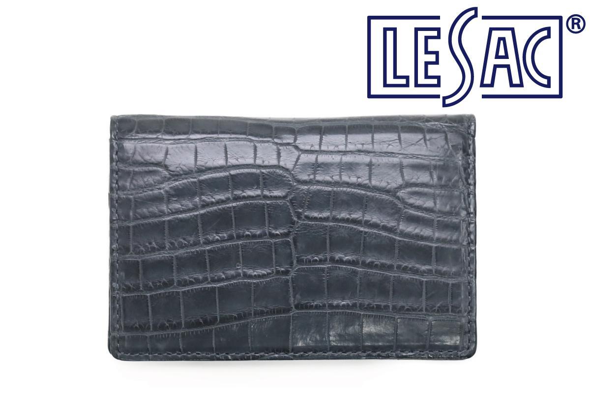 レザック / LE'SAC 革小物 8130smgy クロコダイルレザーカードケース スモーキーグレー 国産(日本製)