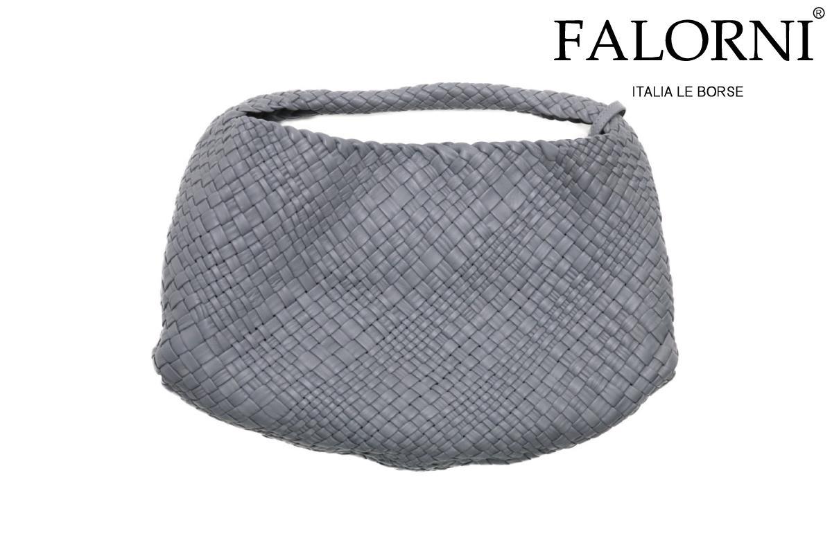 ファロルニ / FALORNI バッグ f1059tracgy シングルハンドルバッグ グレー イタリア製[Pt5]