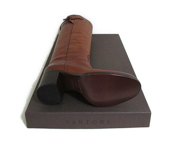 SARTORE長筒靴薩特SR2413尺寸39棕色SARTORE SR2413 MAREMMA SOFT 23 TACCO 39騎馬長筒靴