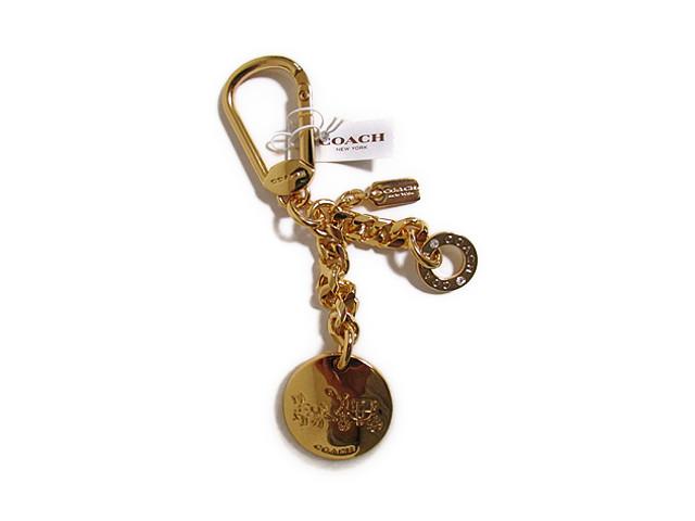 【スペシャル】Coach コーチ キーホルダー キーチェーン チャーム ゴールド メタル ロゴ 63661 ゴールド【新品】COACH Gold Tone Metal Logo Key Ring Keychain FOB (Style F63661) GD/GD