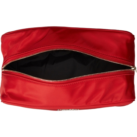 Kate Spade Cosmetic Bag Large Ezra Classic Nylon Red Pwru4091 Garnet