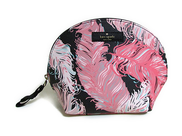 Kate Spade Cosmetic Bag Kelly Grant Brigher Drive Pink Multi Keri Wlru2244 Rglplmblsh