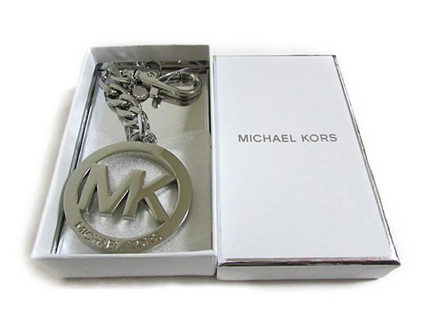 【スペシャル】MICHAEL KORS マイケルコース キーホルダー チャーム MK キーチェーン シルバー【新品】MICHAEL Michael Kors KEY CHARMS MK Key Chain silver 35H0TKCK 1N