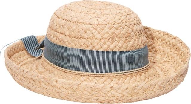 HELEN KAMINSKI ヘレンカミンスキー ラフィア帽子 クラシック 5 カリーニャ ナチュラル/ブルーストライプ【新品/お取寄】HELEN KAMINSKI ハット Classic 5 Carinya natural/seascape stripe /Made in Sri Lanka