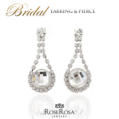 Swarovski Piercing Pearl Wedding Earrings Wedding Pierce Invited Pierce Bridal Pierce Party Piercing Wedding Accessories Wedding