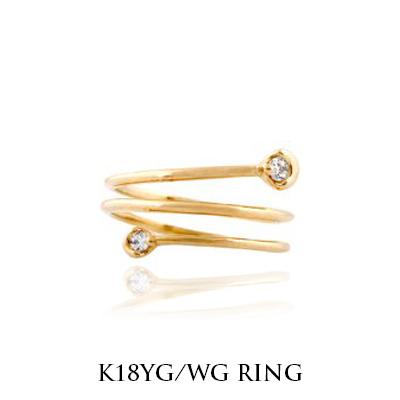 小指 リング ゴールド 小指 指輪 リング ピンキーリング 天然 K18ホワイトゴールド イエローゴールド 送料無料・ ラッピング無料  ギフト 卒業式 卒園式 お呼ばれ 二次会 プレゼント 福袋