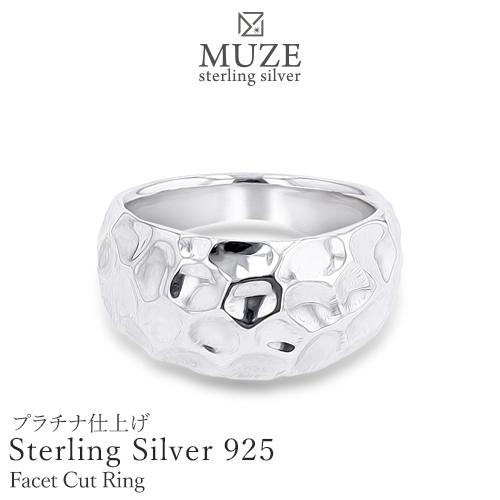 SV925 シルバー指輪 ファセットカットモチーフリング シルバーリング 個性派 純銀 極細 サプライズ SterlingSilver お祝い 誕生日 プレゼント 彼女 妻 記念 madeinjapan 刻印 名入れ ユニーク