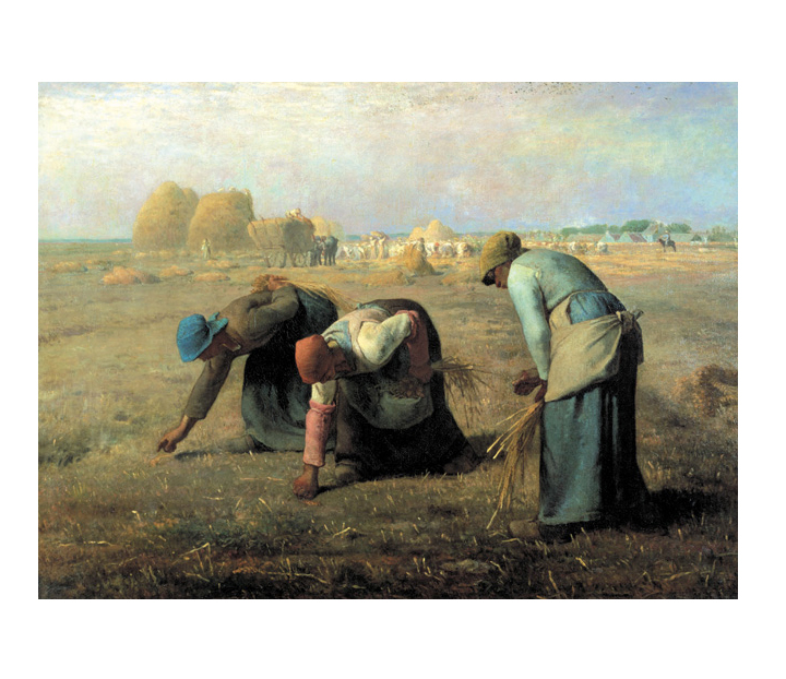 Puzzle artist works millet gleaning The Gleaners Millet masterpieces puzzle size 735 x 510 mm accessories (puzzle / puzzle liquid (with a spatula) and actual poster) (A-1102) (art chamber)