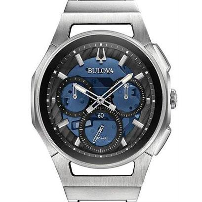 【2日20時~エントリーでポイント最大39倍!9日1時59分まで!】 BULOVA ブローバ カーブ クロノグラフ メンズ腕時計 クォーツ メタル 送料無料 96A205
