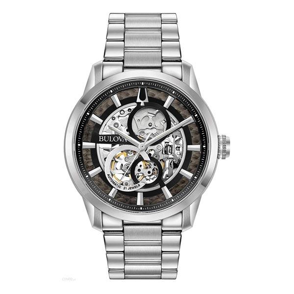 【2日20時~エントリーでポイント最大39倍!9日1時59分まで!】 BULOVA ブローバ サットン オートマチック スケルトン 自動巻き メンズ腕時計 あす楽 送料無料 96A208