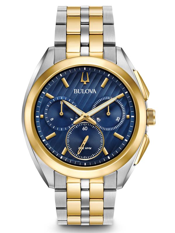 【2日20時~エントリーでポイント最大39倍!9日1時59分まで!】 【送料無料】国内正規品 BULOVA ブローバ カーブ クロノグラフ メンズ腕時計 98A159