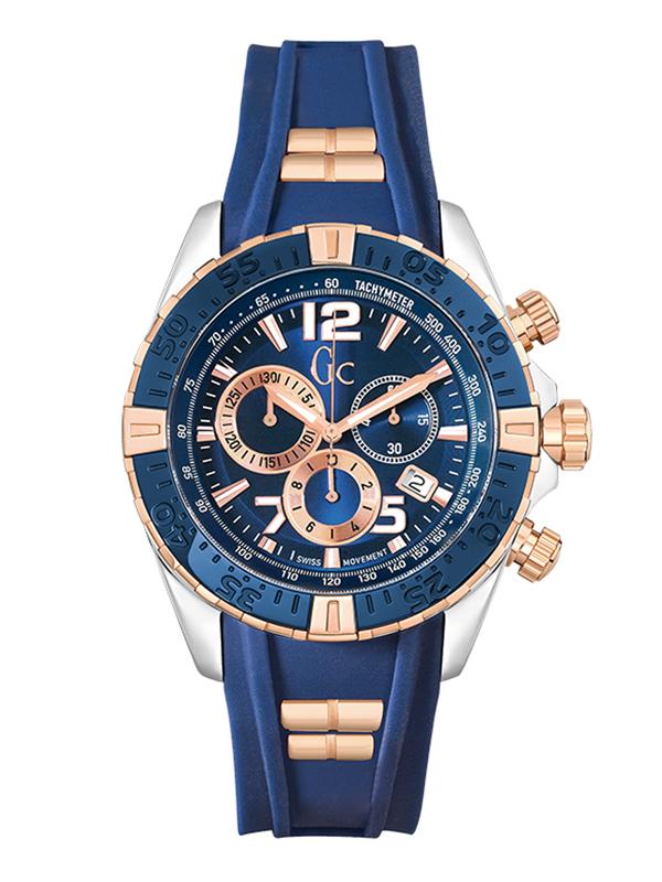 【4日20時~10%OFFクーポン+エントリーでポイント最大25倍!11日1時59分まで!】 【24回払いまで無金利】 【送料無料】国内正規品 Gc ジーシー Papaya&Blue Y02009G7 メンズ腕時計
