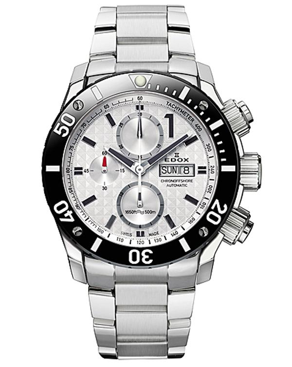 【大決算セール】10%OFFクーポン! 正規品【24回払いまで無金利】  EDOX エドックス CHRONOFFSHORE-1 クロノオフショア1 CHRONOGRAPH AUTOMATIC メンズ腕時計 01115-3-BIN【新品】