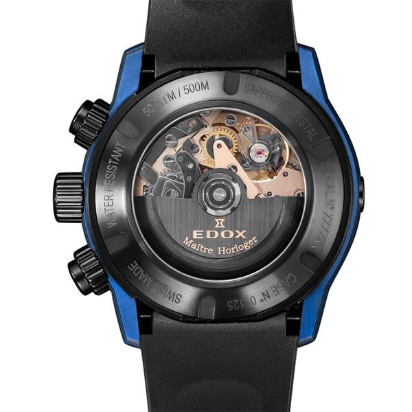 【大決算セール】10%OFFクーポン! 正規品 EDOX エドックス クロノオフショア1 カーボン クロノグラフ オートマチック 自動巻き メンズ腕時計 2018新作  01125-CLNBUN-NINBU