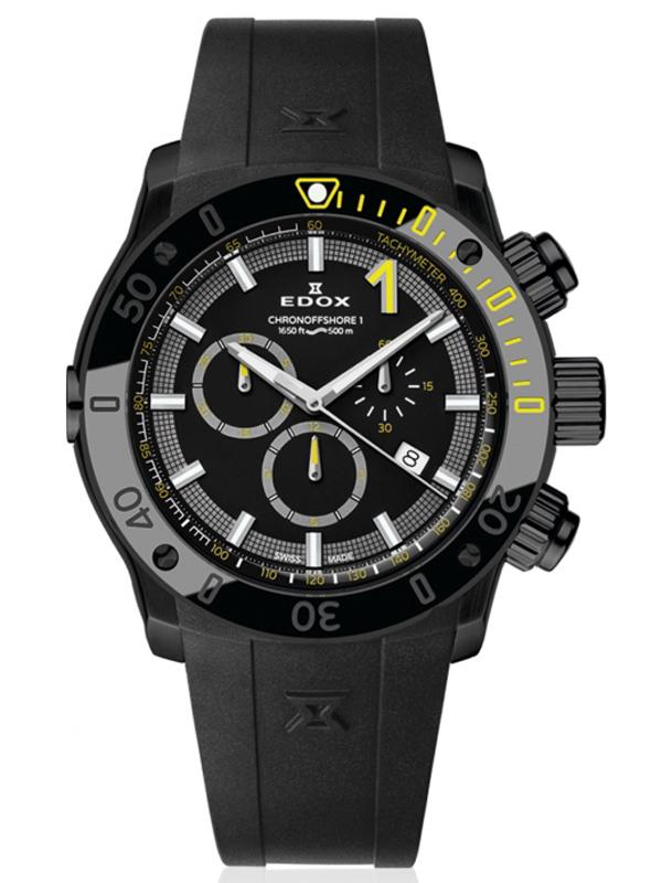 【24回払いまで無金利】 EDOX エドックス クロノオフショア1 CHRONOGRAPH メンズ腕時計 あす楽 送料無料 10221-37N-NINJ 正規品【新品】