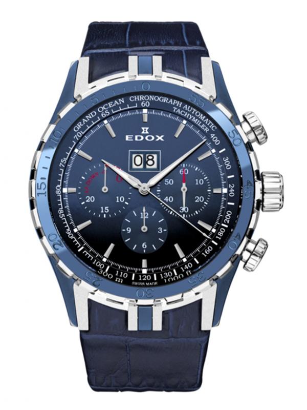 正規品【24回払いまで無金利】 EDOX エドックス グランドオーシャン エクストリームセーリングシリーズ スペシャルエディション メンズ腕時計 45004-357B-BUIN