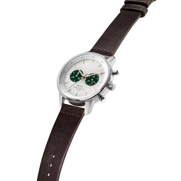 【ポイント最大38倍!9日20時~16日1時59分まで!】 国内正規品 TRIWA トリワ EMERALD NEVIL エメラルド ネヴィル クロノグラフ メンズ腕時計  NEST121-CL010412