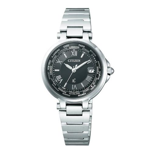 【】シチズン クロスシー エコドライブ電波時計  HAPPY FLIGHT レディース腕時計  EC1010-57F
