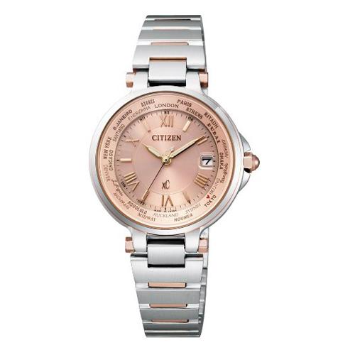 【】シチズン クロスシー エコドライブ電波時計  HAPPY FLIGHT レディース腕時計  EC1014-65W