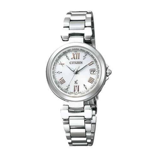 【】シチズン クロスシー エコドライブ電波時計  HAPPY FLIGHT レディース腕時計 EC1030-50A