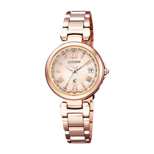 【】シチズン クロスシー エコドライブ電波時計  HAPPY FLIGHT レディース腕時計 EC1032-54X