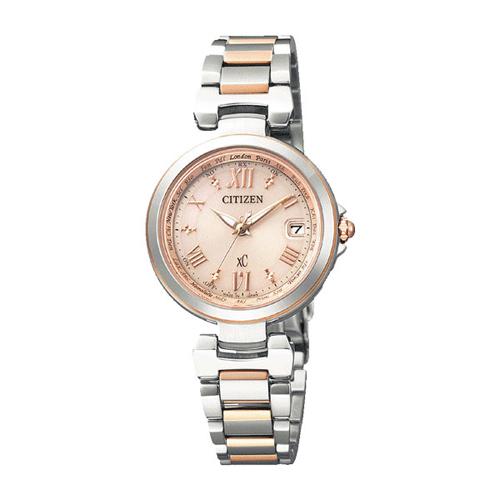 【】シチズン クロスシー エコドライブ電波時計  HAPPY FLIGHT レディース腕時計 EC1034-59W