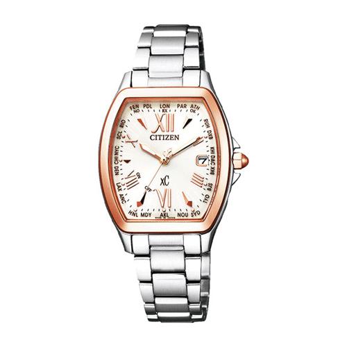 【】シチズン クロスシー エコドライブ電波時計  HAPPY FLIGHT レディース腕時計 EC1104-55A