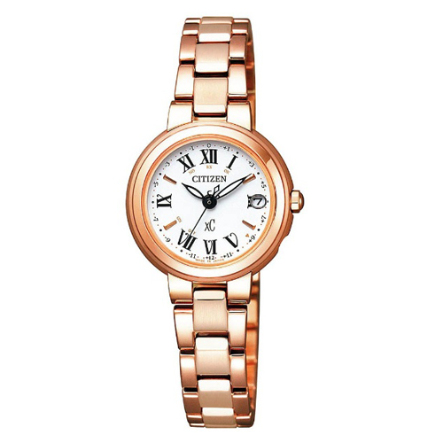 【】シチズン クロスシー エコドライブ電波時計  HAPPY FLIGHT レディース腕時計  ES9002-58A