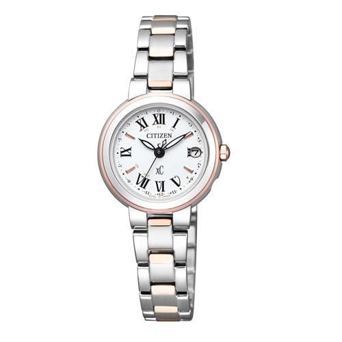 【】シチズン クロスシー エコドライブ電波時計  HAPPY FLIGHT レディース腕時計  ES9004-52A