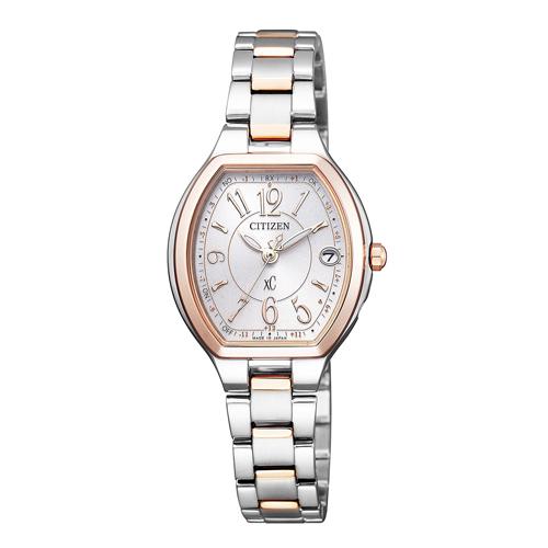 【】シチズン クロスシー エコドライブ電波時計  HAPPY FLIGHT レディース腕時計  ES9364-57A