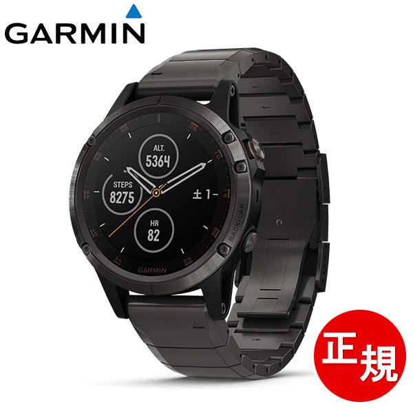 GARMIN ガーミン fenix 5 Plus Sapphire Ti Black フェニックス ファイブ プラス サファイアチタニウムブラック GPSスマートウォッチ 腕時計 メンズ レディース 送料無料 010-01988-84