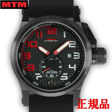 【2日20時~エントリーでポイント最大39倍!9日1時59分まで!】 MTM エムティーエム HYPERTEC CHRONO 1A Black Red Dial - Black Rubber II メンズ腕時計 クォーツ 送料無料 HC1-SB4-RED1-BR2B-A