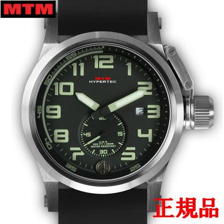 【2日20時~エントリーでポイント最大39倍!9日1時59分まで!】 MTM エムティーエム HYPERTEC CHRONO 1A Silver Black - Lumi Dial - Black Rubber II メンズ腕時計 クォーツ 送料無料 HC1-SS4-BKLM-BR2S-A